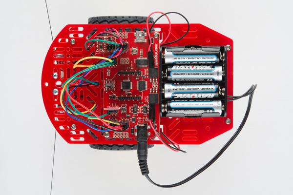 Add batteries to RedBot
