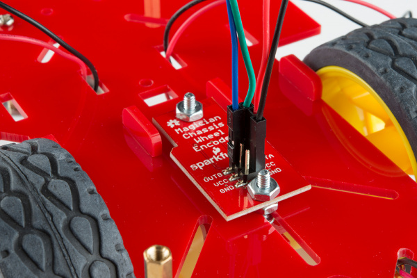 Add jumper wires to the encoder