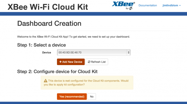 Setting up the XBee Cloud