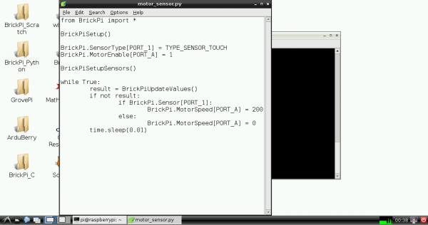 Raspberry Pi Leafpad with BrickPi Python code
