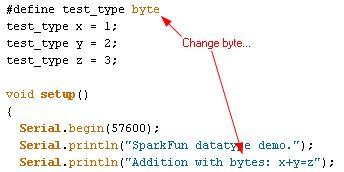 Code snippet for byte program