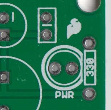 PCB with silkscreen