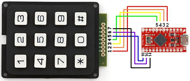 Keypad - 12 Button - COM-14662 - SparkFun Electronics