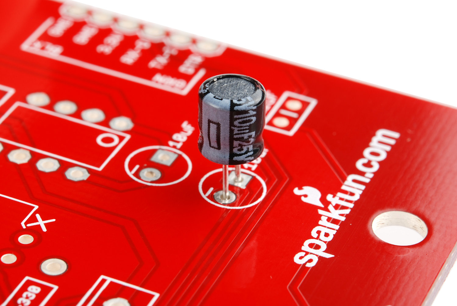 Assembly Sparkfun Fabfm Kit Wiki Github Capacitors Electronic Snap Circuits You Can Match Each Polarized Capacitor With Its Place On The Board By Referring To Component Value Label Red And Looking At